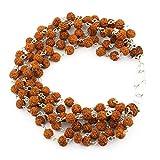 Barishh 5 Mukhi Natural Rudraksha Beaded Bracelet