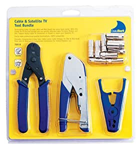 datashark 70018 cable tv f compression bundle with cable cutter coax stripper compression. Black Bedroom Furniture Sets. Home Design Ideas