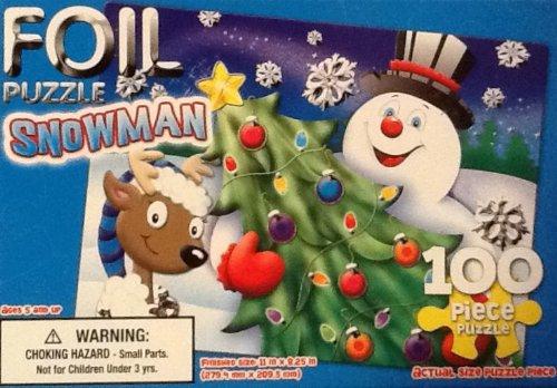 100 Piece Snowman Foil Puzzle