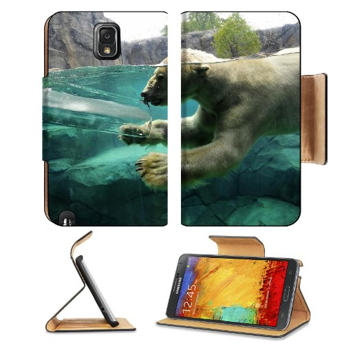 Polar Bear Underwater Swim Baby Samsung Galaxy Note 3 N9000 Flip Case Stand Magnetic Cover Open Ports Customized Made To Order Support Ready Premium Deluxe Pu Leather 5 15/16 Inch (150Mm) X 3 1/2 Inch (89Mm) X 9/16 Inch (14Mm) Liil Note Cover Professional front-664408