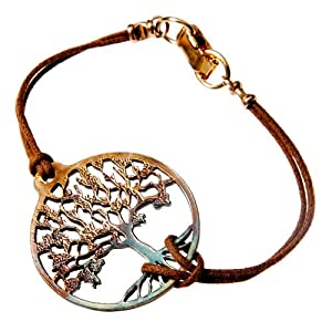 Tree of Life Iridescent Adjustable Cord Bracelet