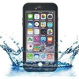 "iProtect Apple iPhone 6 (4,7"") wasserdichtes Outdoor Case Schutzhülle in schwarz"