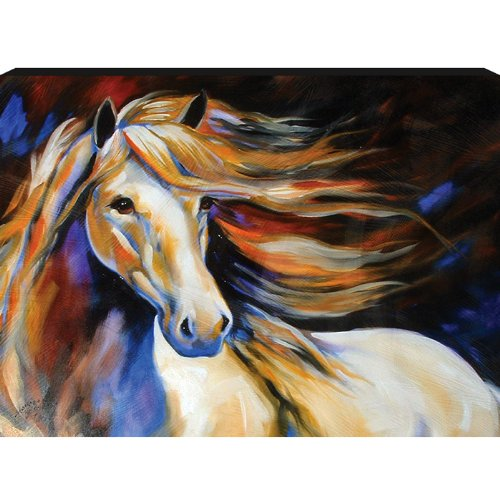 Westland Giftware Marcia Baldwin Canvas Wall Art Horse Wind II 12-Inch by 16-Inch