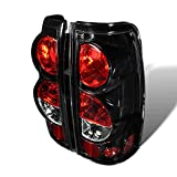 Premium 2pc Tail Lights Fit 99-06 Chevy Silverado;99-02 GMC Sierra Altezza Tail Lights - Glossy Black / Clear Lens - Light bulb type Stock Light. (1 Pair includes both Driver & Passenger Sides.)