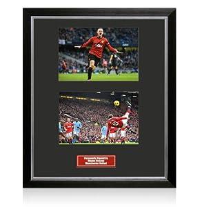Framed Wayne Rooney Signed Photo - Man Utd 2012/2013