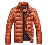 ダウンジャケット 暖かい 中綿 軽量 メンズ カラー(オレンジ) (XL)