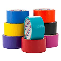 8 Colored Rolls Duct Tape Bulk Pack Arts Crafts Wallet Creative Repairs Set USA