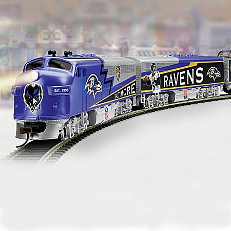 Collectible Nfl Football Baltimore Ravens Express Electric Train Collection - Subscription Plan