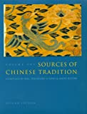 Sources of Chinese Tradition (Volume One)