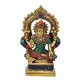 Redbag Goddess Lakshmi Seatd On Throne ( 16.51 Cm, 10.16 Cm, 6.35 Cm )