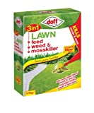Doff 3 In 1 Lawn Feed Weed & Moss Killer 3.5Kg