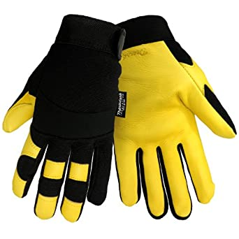 Global Glove TAK515-D2-S Two Sided Dotted Glove Yellow Cut Resistant Small Case of 72