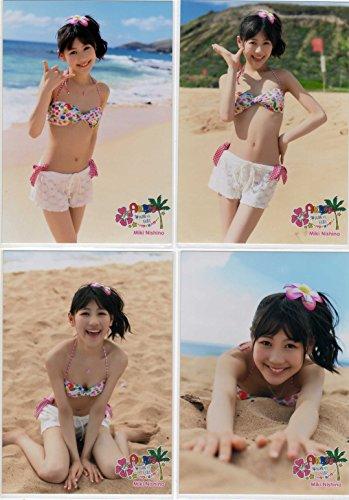 AKB48 公式生写真 海外旅行日記 ~ハワイはハワイ~ 特典生写真 西野 未姫 4枚セット