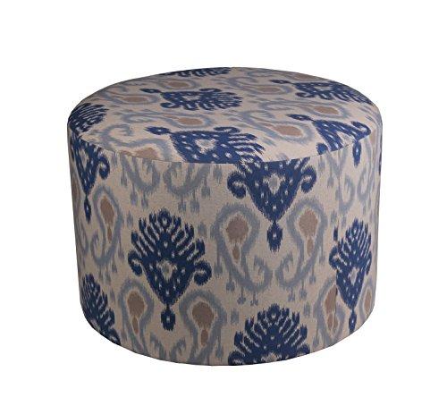 Privilege 68068 Round Ottoman, 24-Inches, Blue