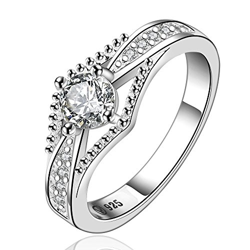Christmas Gift 925 Sterling Silver Wedding Rings