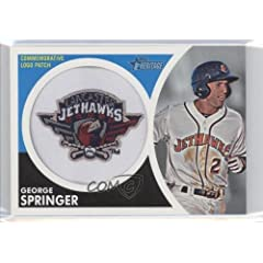 George Springer TEAM NOT VISIBLE (Baseball Card) 2012 Topps Heritage Minor League... by Topps
