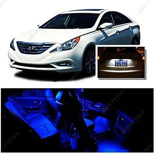 Ameritree Blue Led Lights Interior Package White Led License Plate Kit For Hyundai