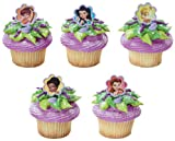 12 ~ Disney Fairies Fairy Friends Twist Rings ~ Designer Cake/Cupcake Topper ~ New!!!!!