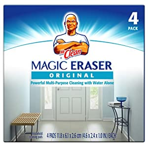 Mr. Clean Original Erase and Renew Magic Eraser, 4-Count (Pack of 6)