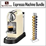 Nespresso CitiZ White Espresso Machine D110WH D110 60S With Swissmar Vista  ....