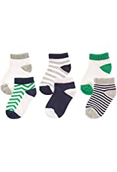 Luvable Friends 6 Pack No-Show Striped Socks