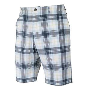 IJP Design Men's Tartan Shorts - Black, Size 40