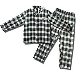 Men's Hanes Long-sleeve Coat-style Flannel Pajamas