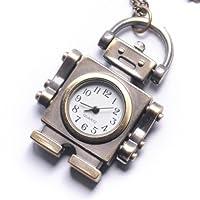 81stgeneration vendimia del collar del reloj de bolsillo Robot de cadena larga de latón marca 81stgeneration
