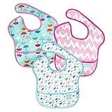 バンキンス スーパービブ/スタイ3点セット【日本正規品】洗濯機でも洗える お食事用防水ビブ 6~24ヶ月 Girl Assorted S3-G67