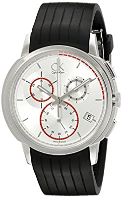 Calvin Klein Men's K1V27926 Drive Stainless Steel Watch with Black Rubber Band