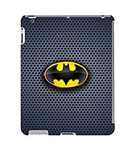 Fuson 3D Printed Bat Man Designer Back Case Cover for Apple iPad 3 - D807