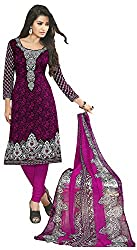 VSS Collections Women's Synthetic Unstitched Dress Material(1069,Multi-Color)