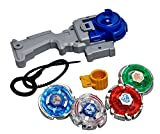 #10: Toykart® 4 in 1 Beyblades Metal Fighter Fury with Metal Fight Ring and Handle Launcher