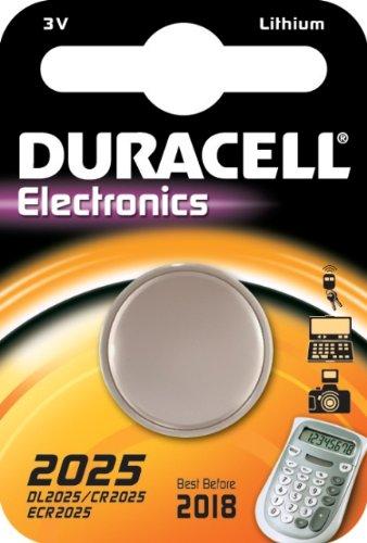 """DURACELL blister de 1 pile bouton lithium """"Electronics"""" DL2025 (CR2025)"""