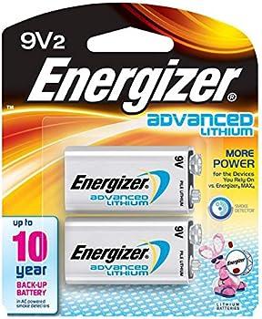 2-Pack Energizer Lithium 9V Battery