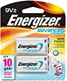 Energizer Advanced Lithium 9V Batteries, 2 Count