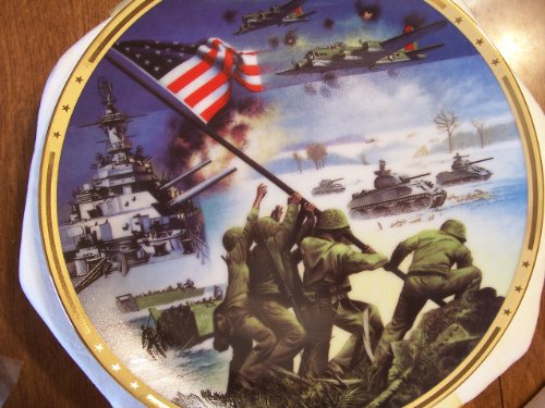 50th Anniversary World War Ii Commemorative Plate