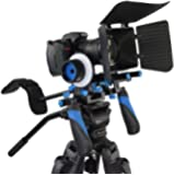 StudioFX DSLR RIG With Follow Focus And Matte Box Shoulder Mount Rig with COUNTER WEIGHT Camcorder Steady Video Cam Camera