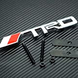 3D TRD Racing Grill Grille Emblem Red and Silver Universal Fit All Vehicles