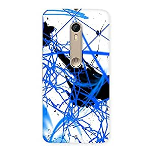 Cute Blue Splasher Print Back Case Cover for Motorola Moto X Style
