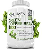 Pure Green Coffee Bean Extract - Maximum Strength Fat Burner - 90 Powerful Diet Pills to Accelerate Weight Loss - Natural GCA (Green Coffee Antioxidant) Supplement to Speed Up Metabolism & Lose Weight - 45 Day Supply for Men & Women