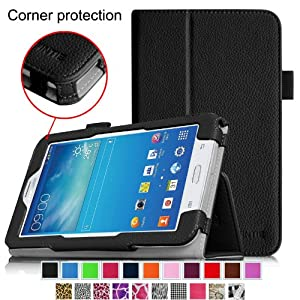 [CORNER PROTECTION] Fintie Samsung Galaxy Tab 3 Lite 7.0 Folio Pro Case Cover for SM-T110 and SM-T111 3G 7-inch (3 Year Manufacturer Warranty) - Black