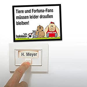 Anti-Düsseldorf-Klingelschild - Leverkusen-, Köln- und alle Fußball-Fans aufgepasst. Witziges Geschenk für Freunde, Kollegen, Geburtstage und Partys - Klingelschilder, Büroschilder, Türschilder, Warnschilder, Hunde Verbotsschilder Zutrittsschild, Ei