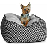 K&H Deluxe Medium Cuddle Cube, Black Squares, 26-Inch by 26-Inch