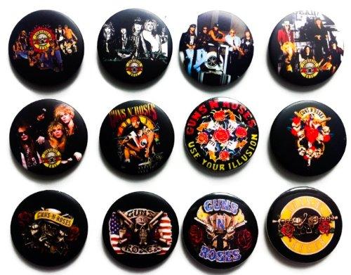 "The Bigger Vivider 1.75"" Lot 12 Awesome Pin Button Badge Guns N' Roses Brooch #2"
