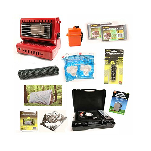 Survival Kit Emergency Camping Gear Butane Stove Heater Tent Doomsday Prep Tools, New (Butane Tent Heater compare prices)