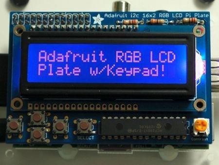 Rgb Negative 16X2 Lcd + Keypad Kit For Raspberry Pi With White Earbud Headphones