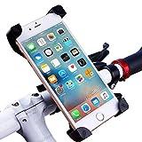 ALLROADS バイク自転車ホルダー iPhone/スマートフォンマウント多機種対応 360度回転 脱落防止 (黒)