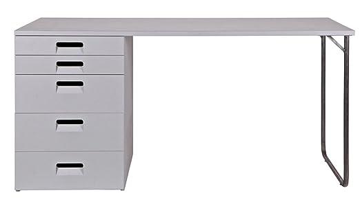Bureau coloris gris, H 75 x L 150 x P 60 cm - PEGANE -