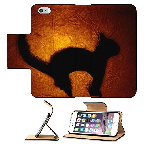Luxlady Premium Apple iPhone 6 Plus iPhone 6S Plus Flip Pu Leather Wallet Case cat stained glass 2 IMAGE ID 329378
